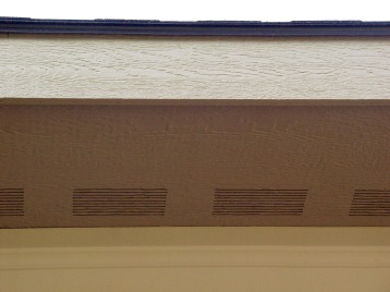 Wood vented soffit