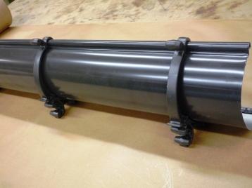 Aluminum 6'' Half Round Sample