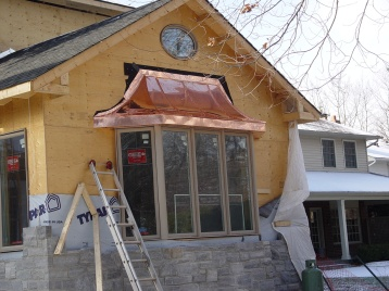 Bay window roof copper