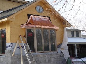 Bay window roof copper